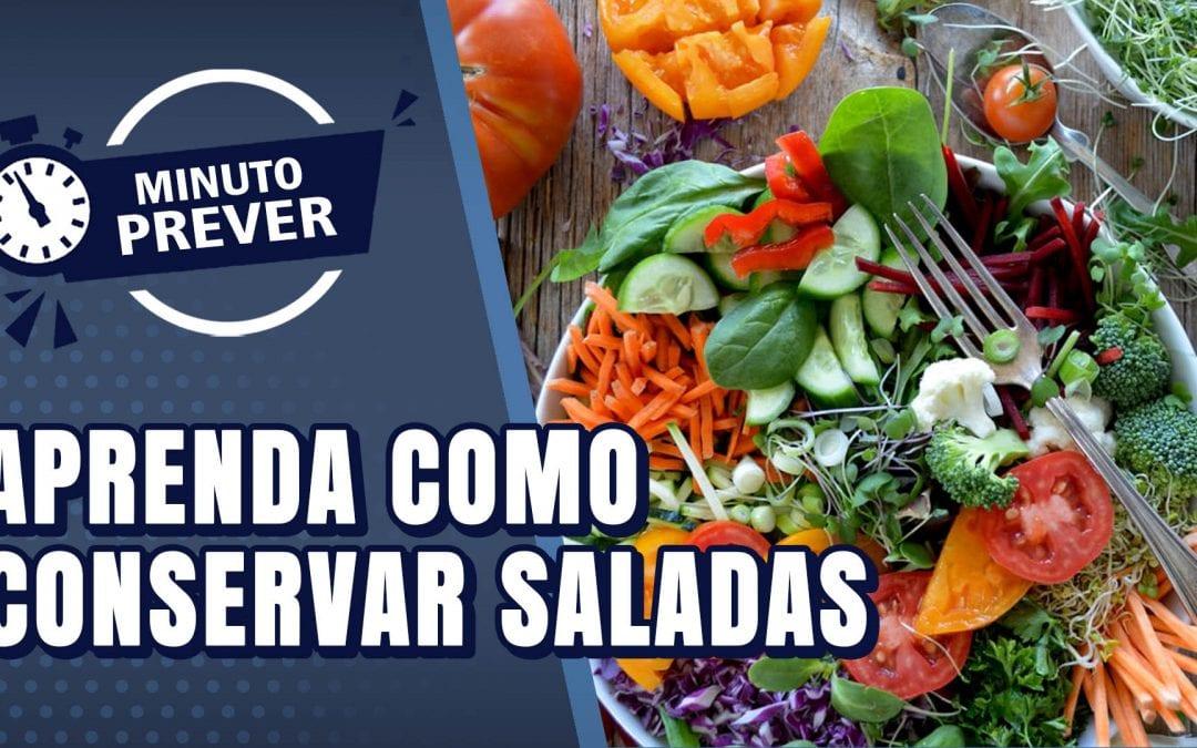 Aprenda como conservar saladas.