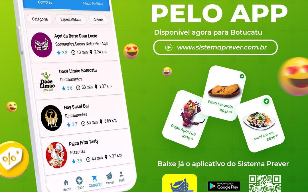 Sistema Prever lança serviço de compras pelo aplicativo.