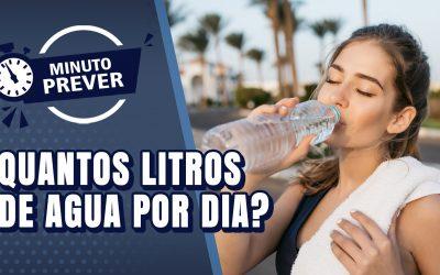 Quanto de água devo tomar por dia?